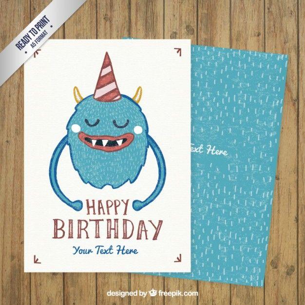 Happy Birthday Card Template  Tarjetas De Cumpleaos  Happy