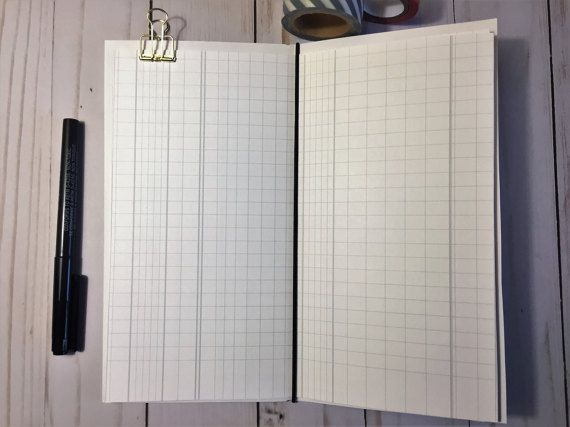 Traveleru0027s Notebook Printable Papers, Ledger Papers, Midori - printable ledger