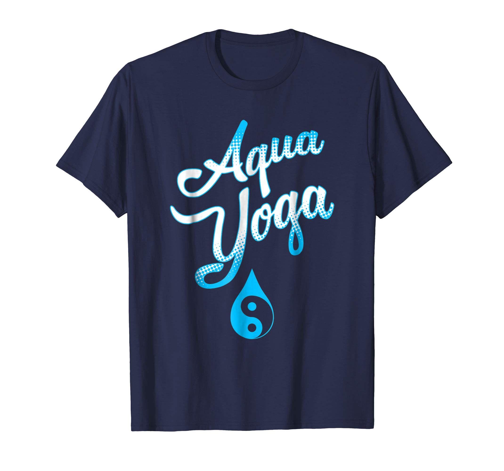 Aqua yoga water yin yang tshirt for women and