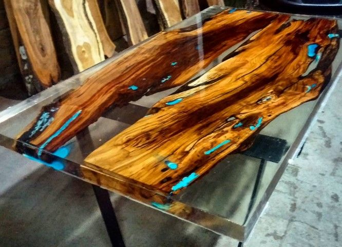 Tr transparent epoxy clear epoxy resin woodworking for Table th ou tr
