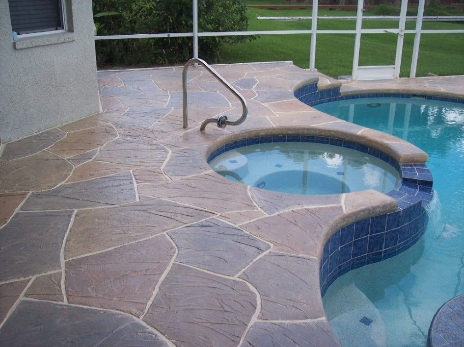 designing your pool with pool deck paint: simple pool design with