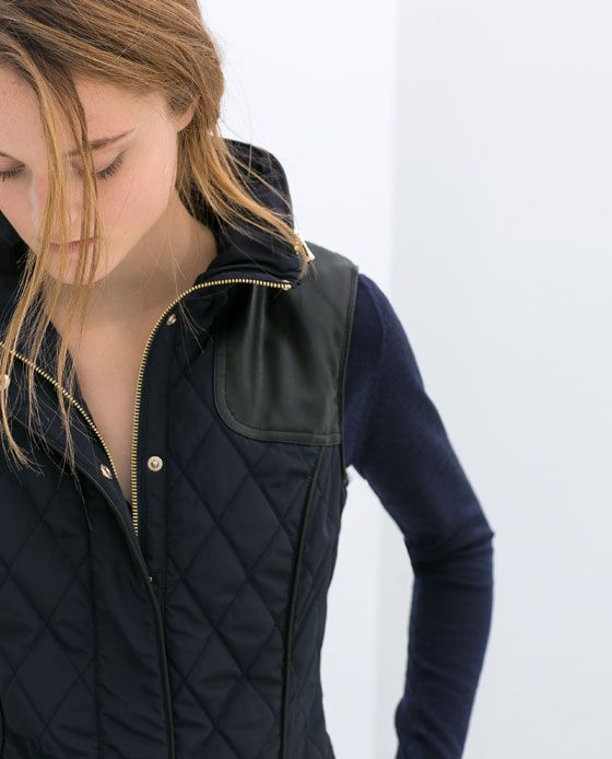 Image 5 of QUILTED WAISTCOAT from Zara