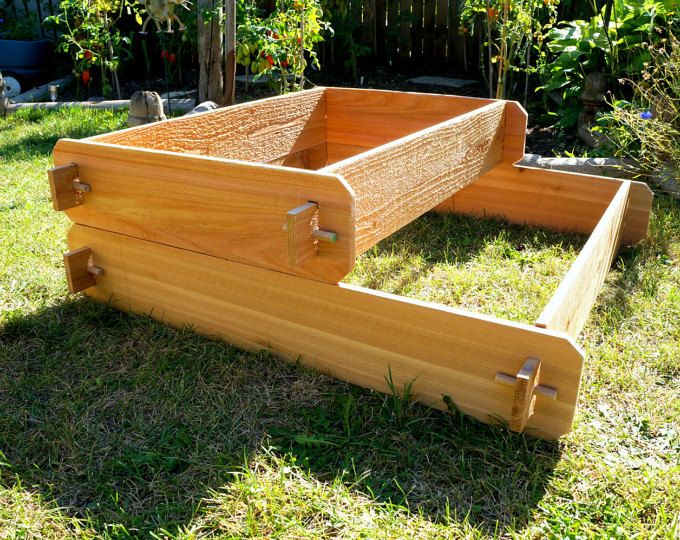 Raised Garden Bed 2 Tier Cedar Raised Planters Raised Beds Wooden Planter Boxes Outdoor Pla Cedar Raised Garden Beds Raised Garden Beds Raised Garden Bed Kits