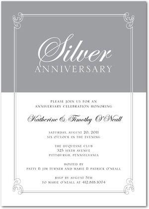 25th anniversary invitations Books Worth Reading Pinterest