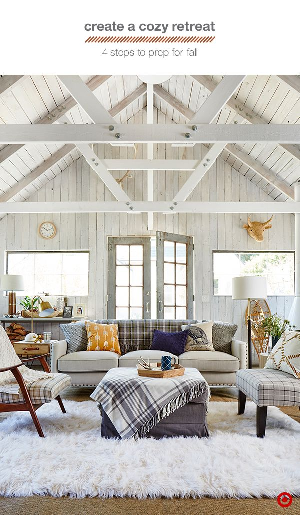 Turn your living room or den into a chic fall retreat with ...