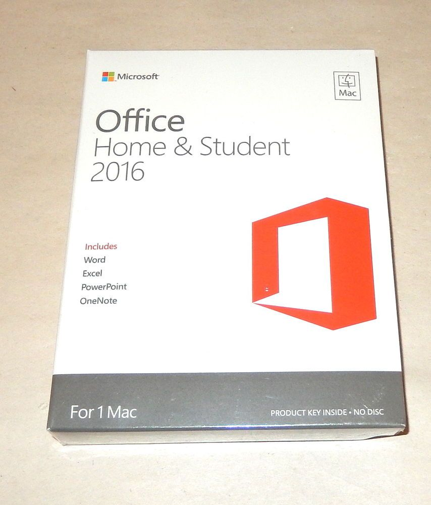 microsoft office home and student 2016 product key card - 1pc