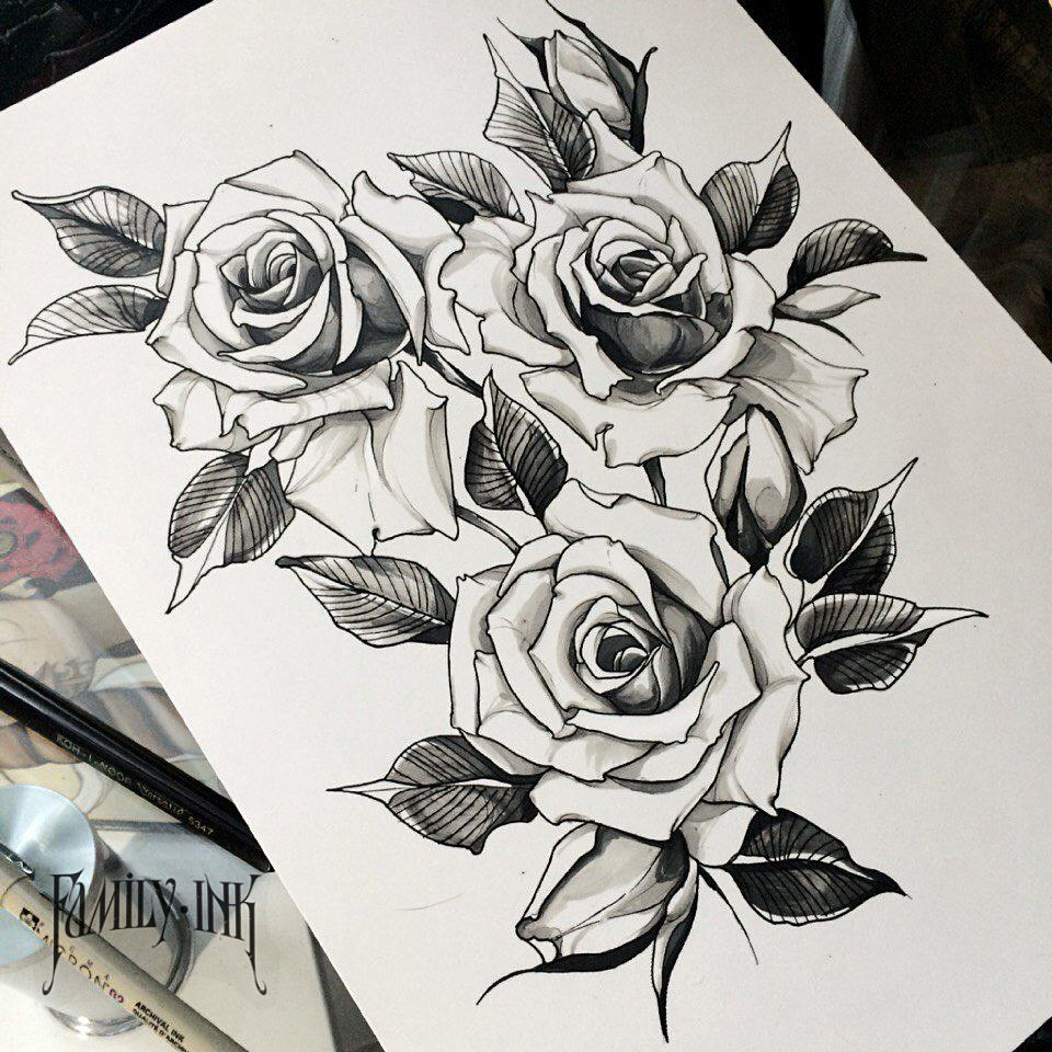 familyinktattoo roses tattoo sketch proyectos que intentar pinterest tattoo. Black Bedroom Furniture Sets. Home Design Ideas