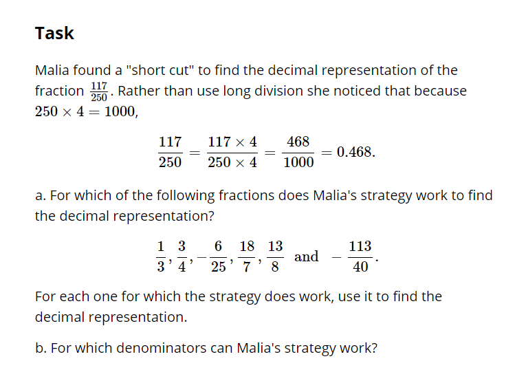 7NSA2d Equivalent Fractions Approach to NonRepeating Decimals – Repeating Decimals to Fractions Worksheet