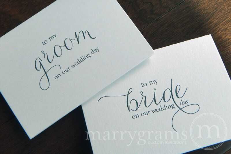 Wedding Card To Your Bride Or Groom On Our Day