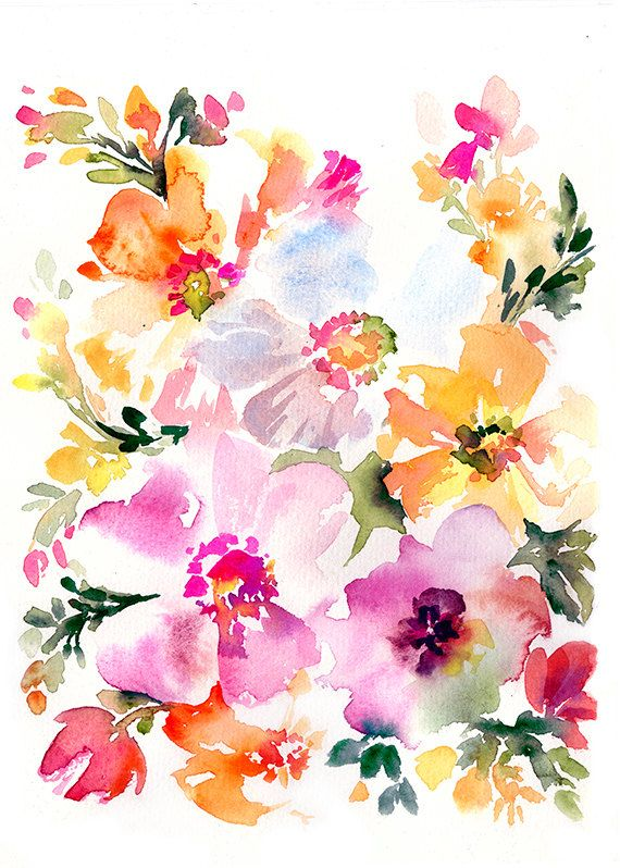 Watercolor Poppies - Original Painting