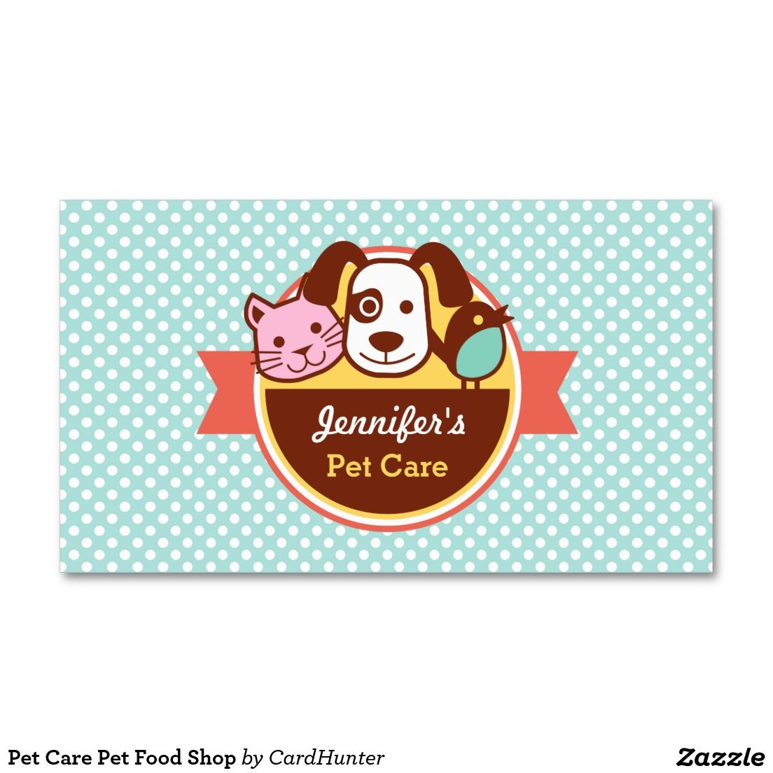 Pet Care Pet Food Shop Business Card | Pet care and Pet food