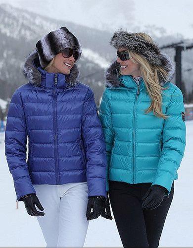 Women s SKEA Ski Jackets  The Woman on the L. Is Wearing a Steel ... 2564ad424