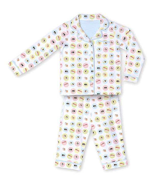 22ab92525 Take a look at this Light Blue Sushi Flannel Pajama Set - Infant ...