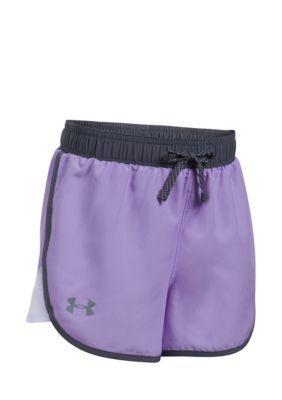 Under Armour Lavender Ice Fast Lane Shorts Girls 7-16