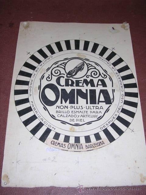PUBLICIDAD - DIBUJO ORIGINAL A PLUMILLA PUBLICITARIO CREMA OMNIA VALLCARCA (BARCELONA) - Foto 1