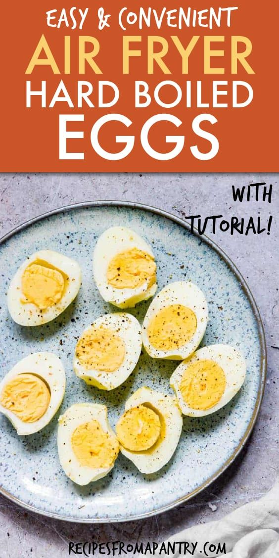 This recipe for Air Fryer Hard Boiled Eggs is SO easy and