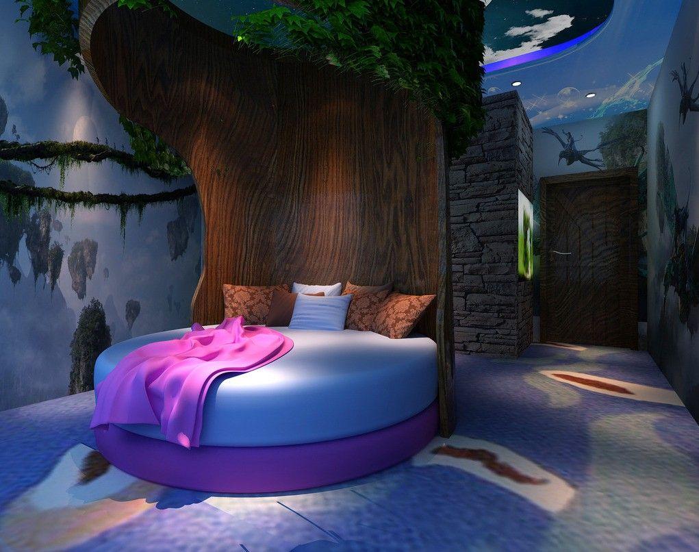 Unusual beds creative bedroom round tree bed beds for Creative bedroom ideas