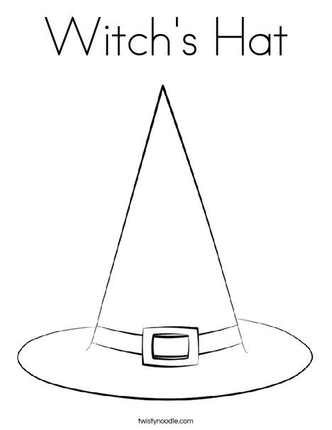 Witch S Hat Coloring Page Witch Drawing Witch Hat Witch