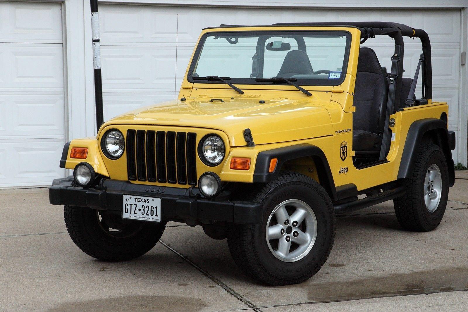 Ebay 2002 jeep wrangler 5 speed yellow hardtop very original condition jeep