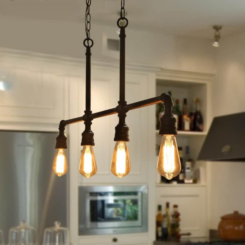 10 Industrial Kitchen Lighting Ideas 2021 Fresh It Up Industrial Kitchen Lighting Industrial Light Fixtures Industrial Pendant Lights Industrial style kitchen lighting