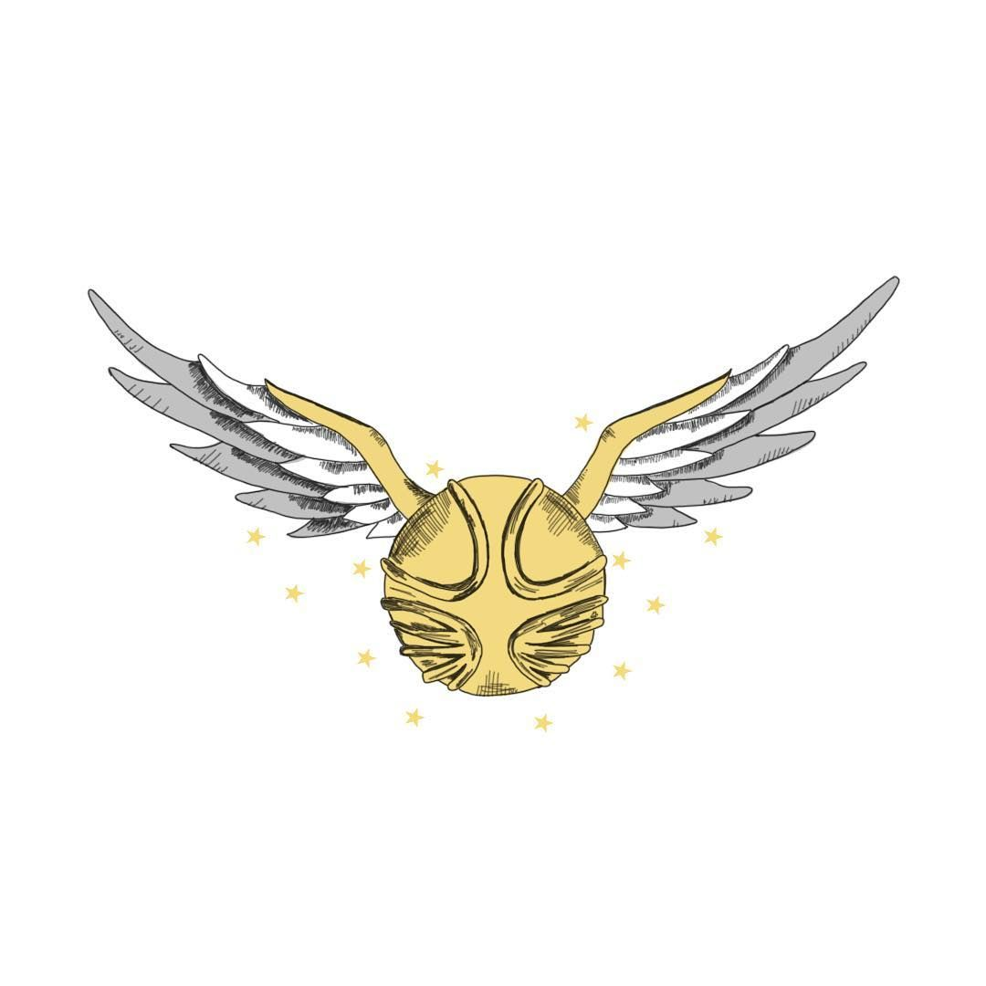 Golden Snitch Drawing From Harry Potter And The Game Of