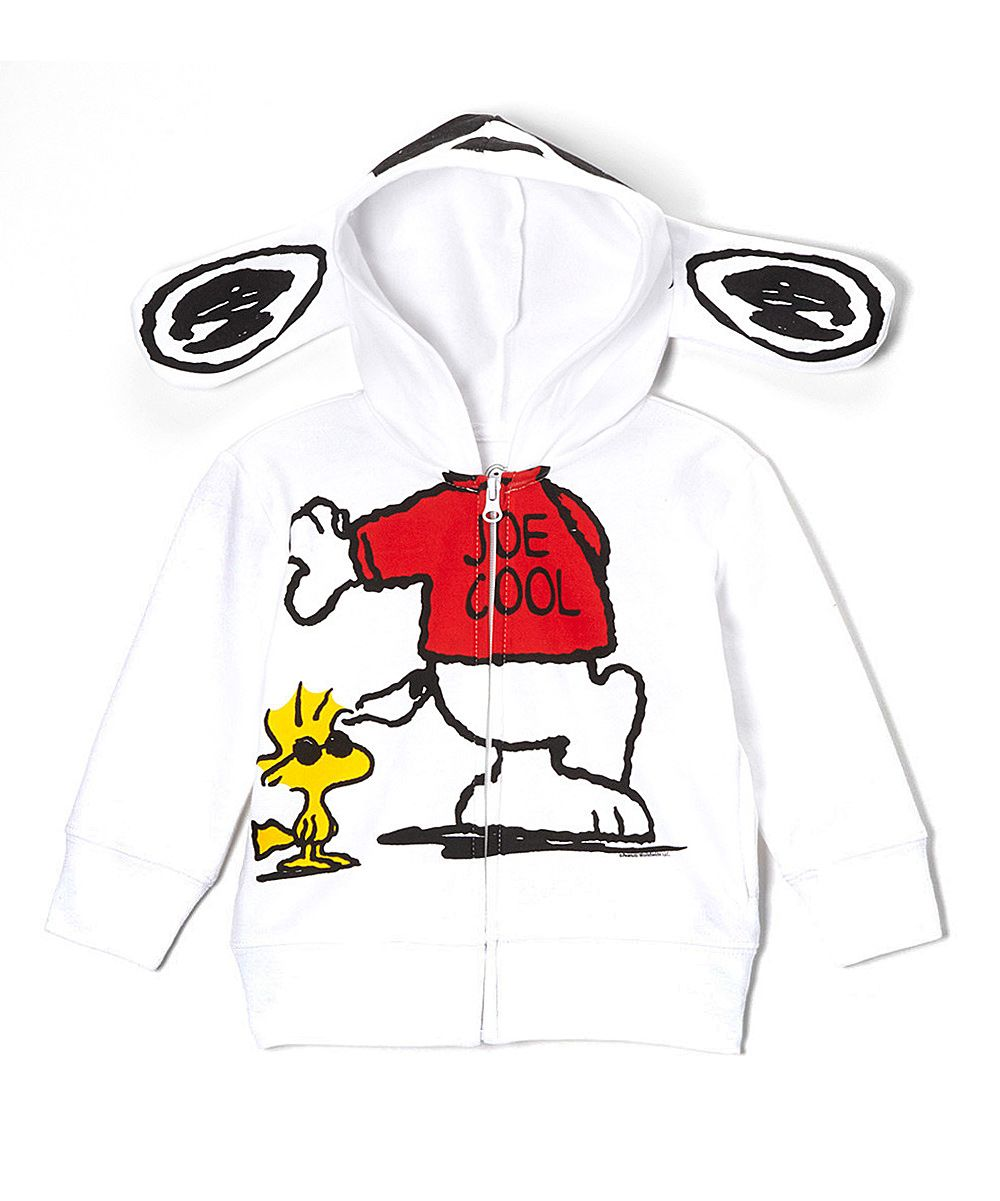 d285701bf White Snoopy 'Joe Cool' Ear Zip-Up Hoodie - Toddler | zulily | Love ...