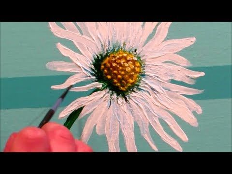 How To Paint A Daisy Step By Step Youtube Creative Painting