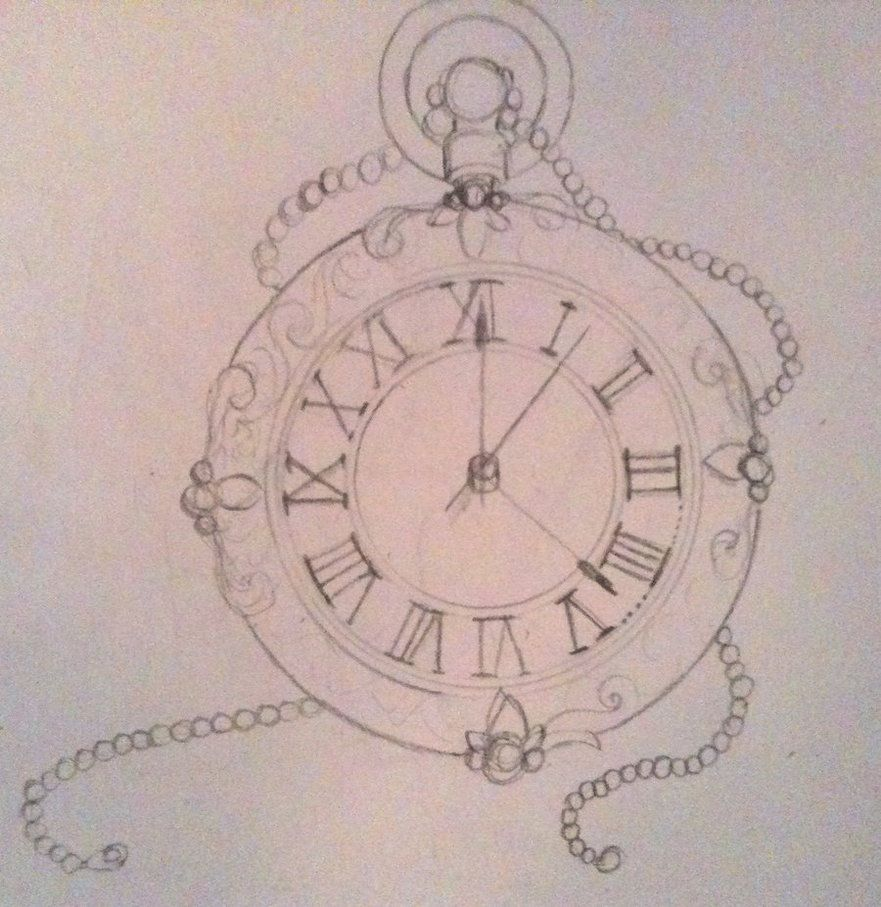 Pocket watch tattoo sketch  pocket watch tattoo - We only have a short time on this earth ...