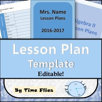 Need An Electronic Lesson Plan Template Tweak And Make It Your