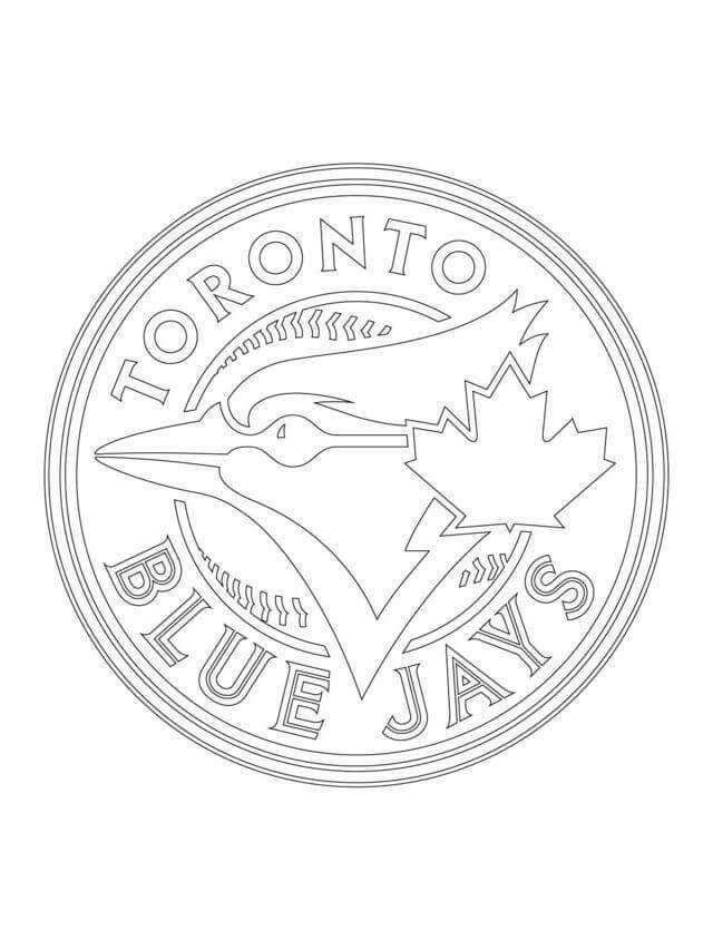 Printable Mlb Coloring Book Toronto Blue Jays Toronto Blue Jays Logo Baseball Coloring Pages Coloring Pages
