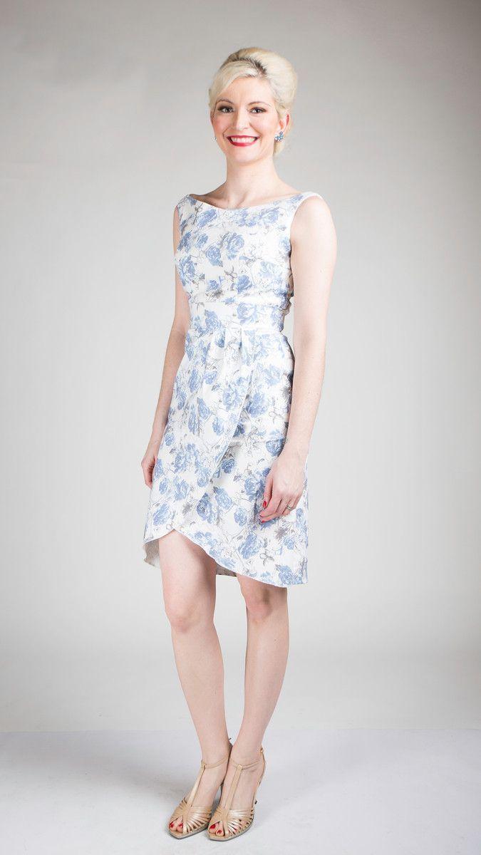 Georgia Floral Twill Tulip Skirt Dress