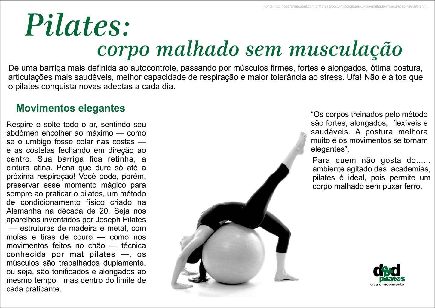 Pilates: corpo malhado sem musculação
