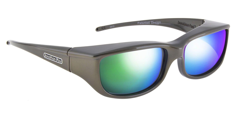 f5f43cc70ae Euroka™ Gun Metal (Green Mirror) by Jonathan Paul® the Original Fitovers  Eyewear™ - they fit comfortably over your prescription sunglasses!