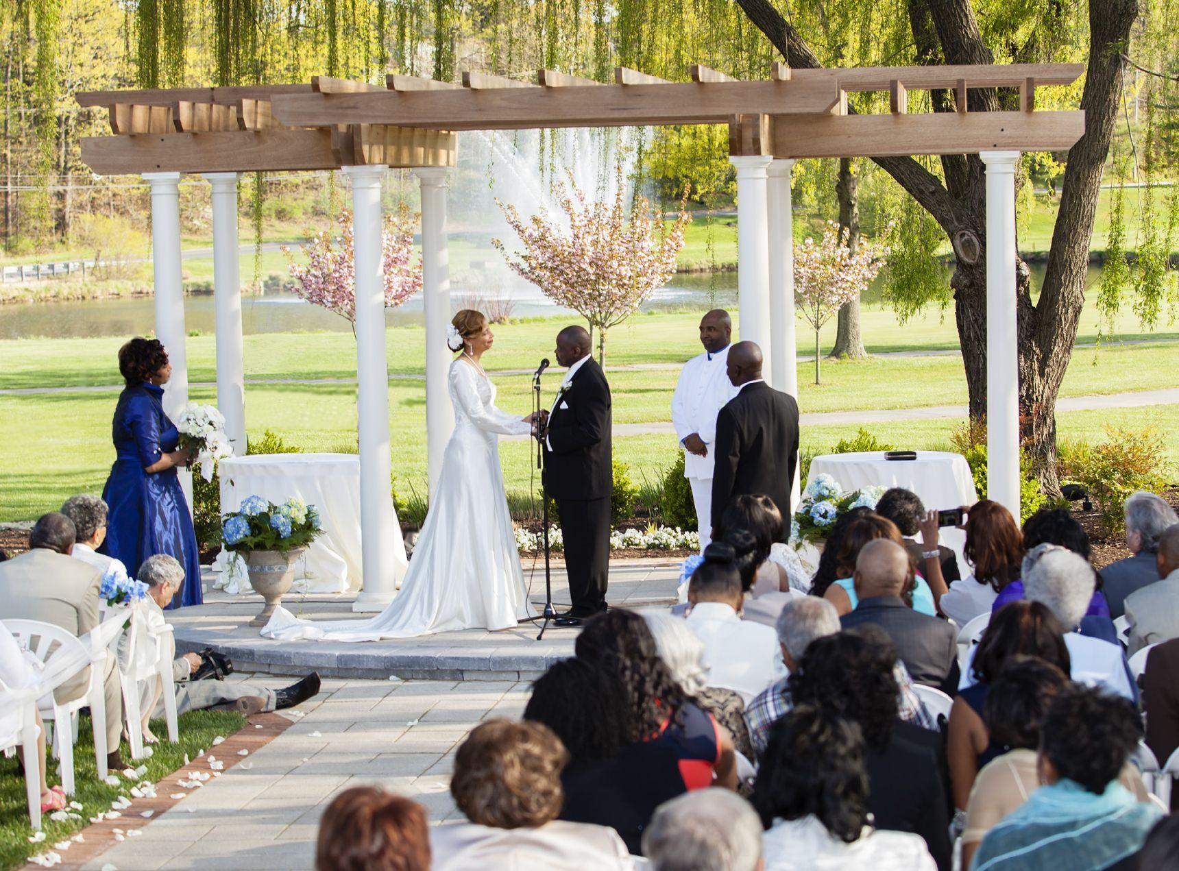 Wedding Pergola At Turf Valley Resort In Ellicott City Md Wedding Pergola Pergola Diy Pergola