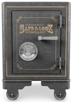 Old Fashioned Fire Proof Combination Safe