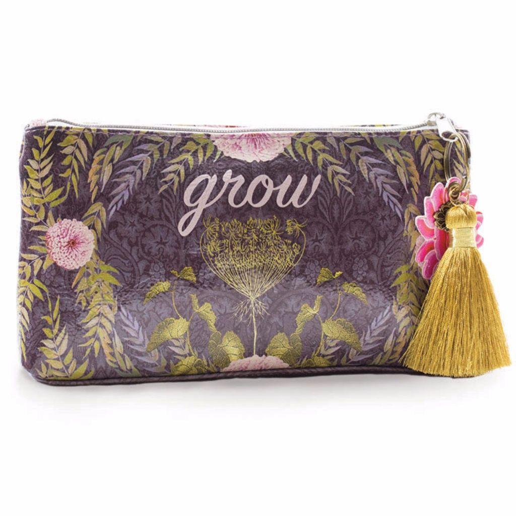 Grow Small Tassel Pouch Pouch, Bags, Papaya art