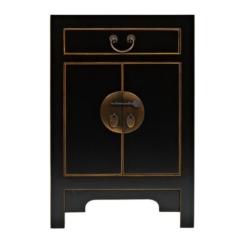 JOHN LEWIS CHINESE COLLECTION SURI BLACK SMALL CABINET   BRAND NEW