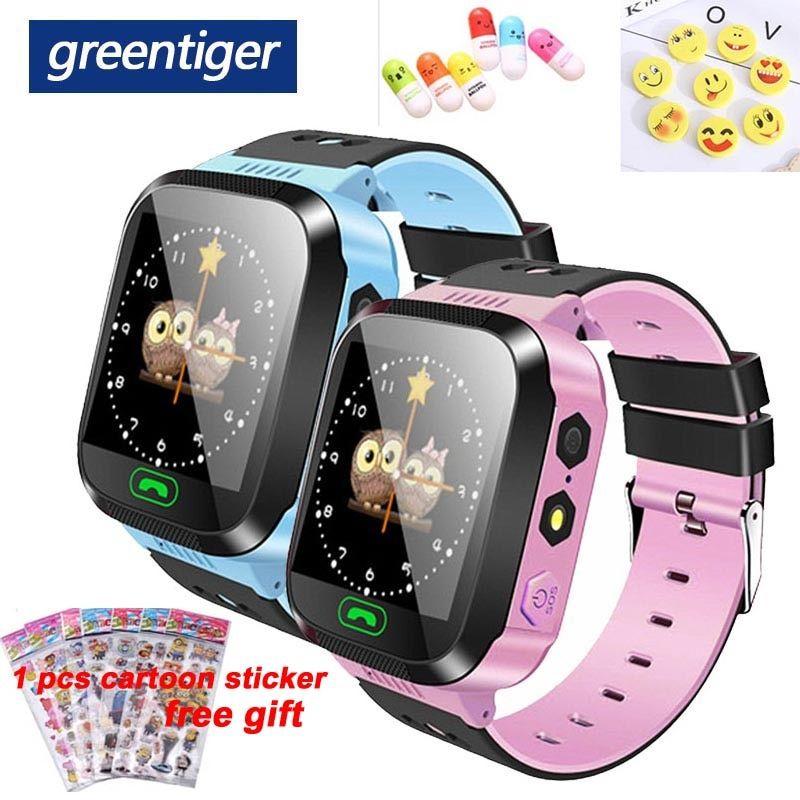 الساعات الذكية رخيص اشتري مباشرة من المورد بالصين Greentiger Q02 الأطفال كاميرا مراقبة ذكية الإضاءة شاشة تعمل باللم Gps Tracker Smart Watch Smart Watch Apple