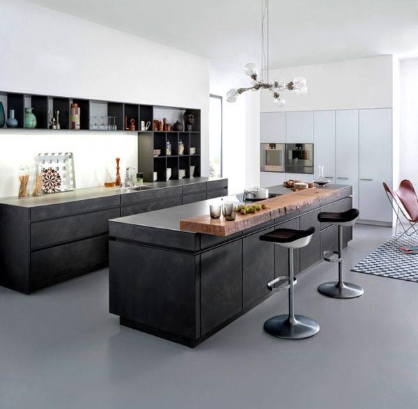 concrete minimalist kitchen design from leicht. Black Bedroom Furniture Sets. Home Design Ideas