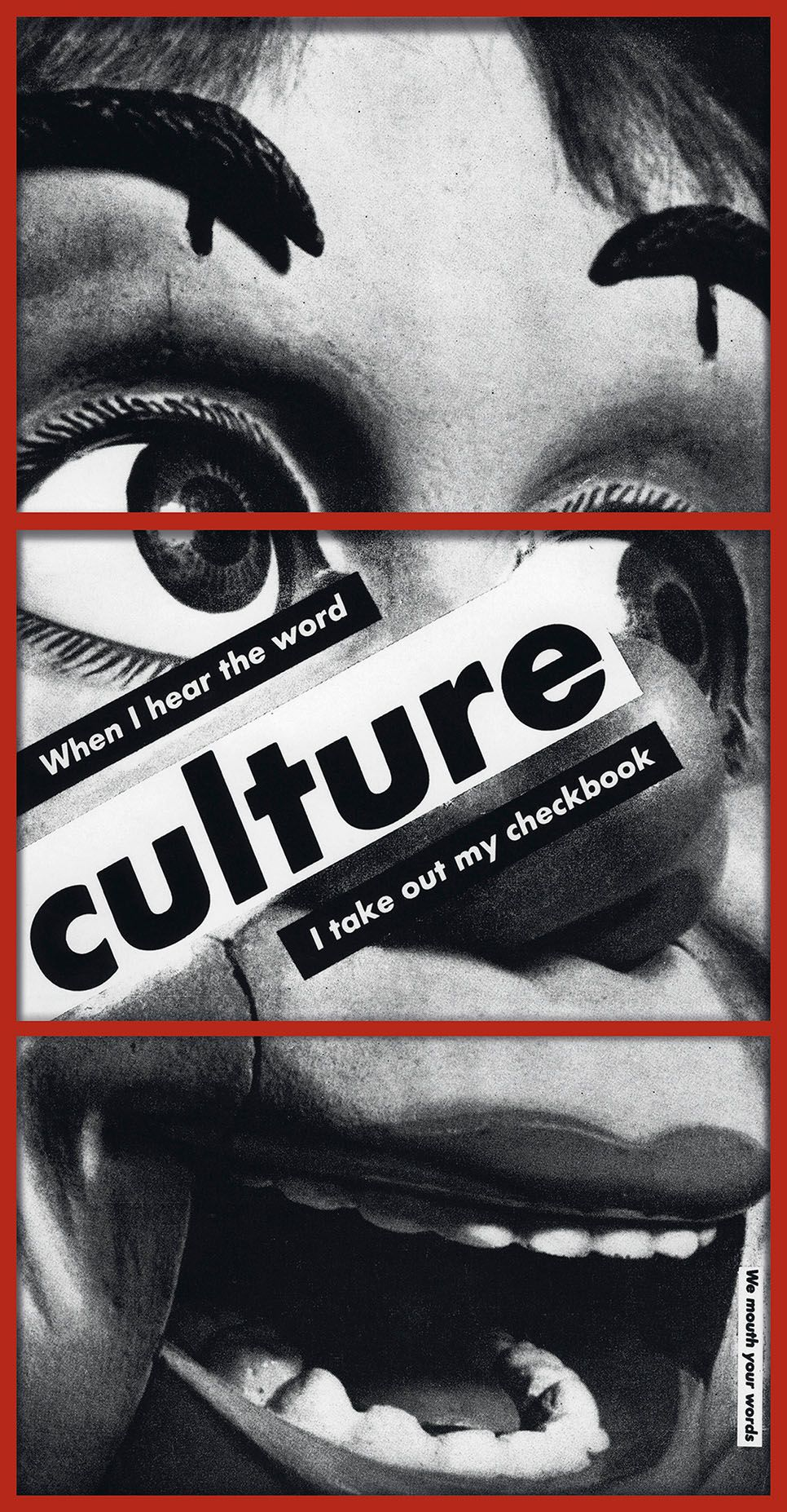 198d3cc754fb Barbara Kruger, Artsy Fartsy, Piece Of Me, Halloween Face Makeup, Culture,