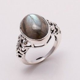 STAMP 925 SOLID STERLING SILVER TIBETAN TURQUOISE  RING-9.5 GRAM 8