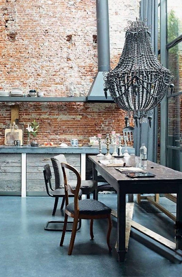 Brick Wall Tiles For Kitchen Shabby Chic Style Tuscan