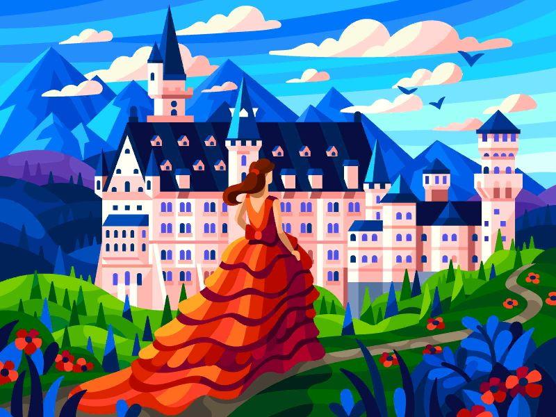 Bavarian Dream Painting Digital Art Girl Coloring Books