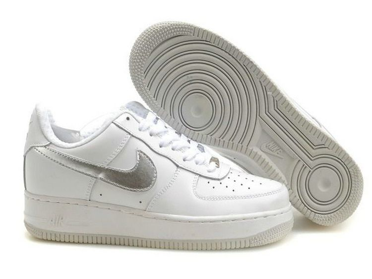 nike air force 1 low mujer plata