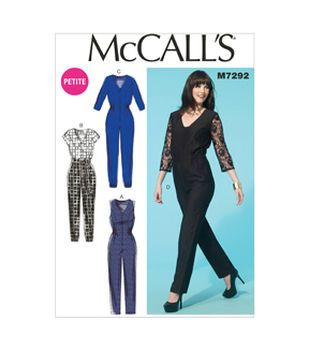 44c70068654ec Mccall Pattern M7292-E50-Misses  Miss Petite Jumpsuits And Belt-14 ...