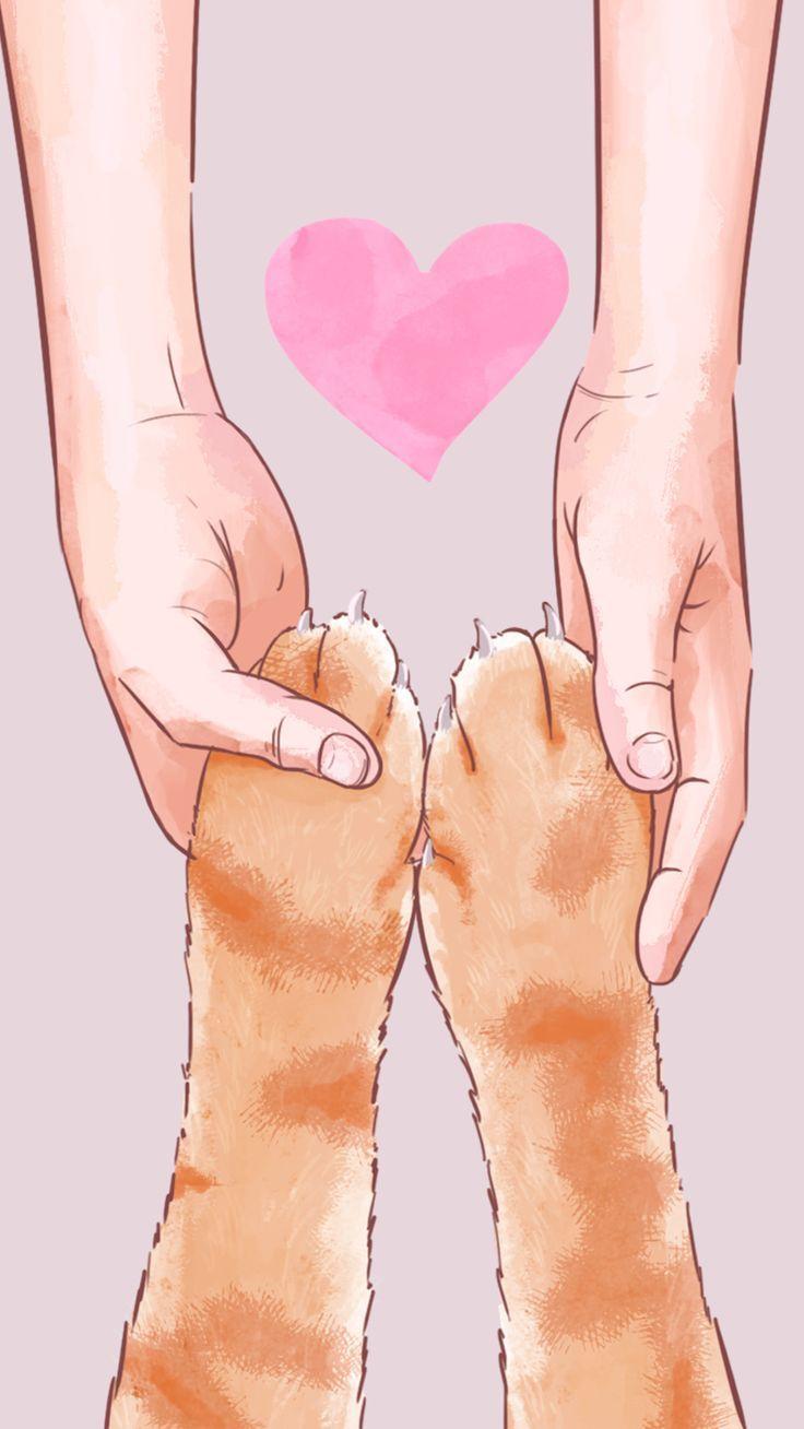 Love Pet Cat Hintergrundbild von Gocase   - Phantasie -   #