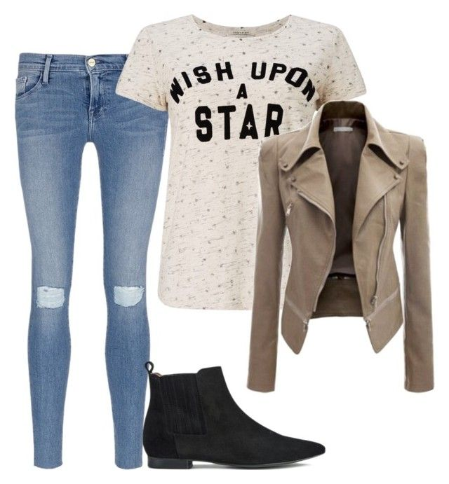 """""""Walk for Seoul"""" by alex99-31 ❤ liked on Polyvore featuring Frame Denim, Maison Scotch and H by Hudson"""