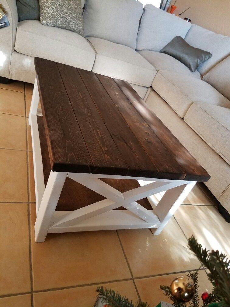 Diy Farmhouse Style Coffee Table X Rustic Home Decor