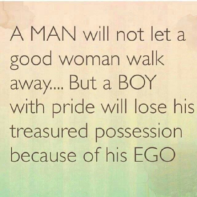 How to deal with egotistical men
