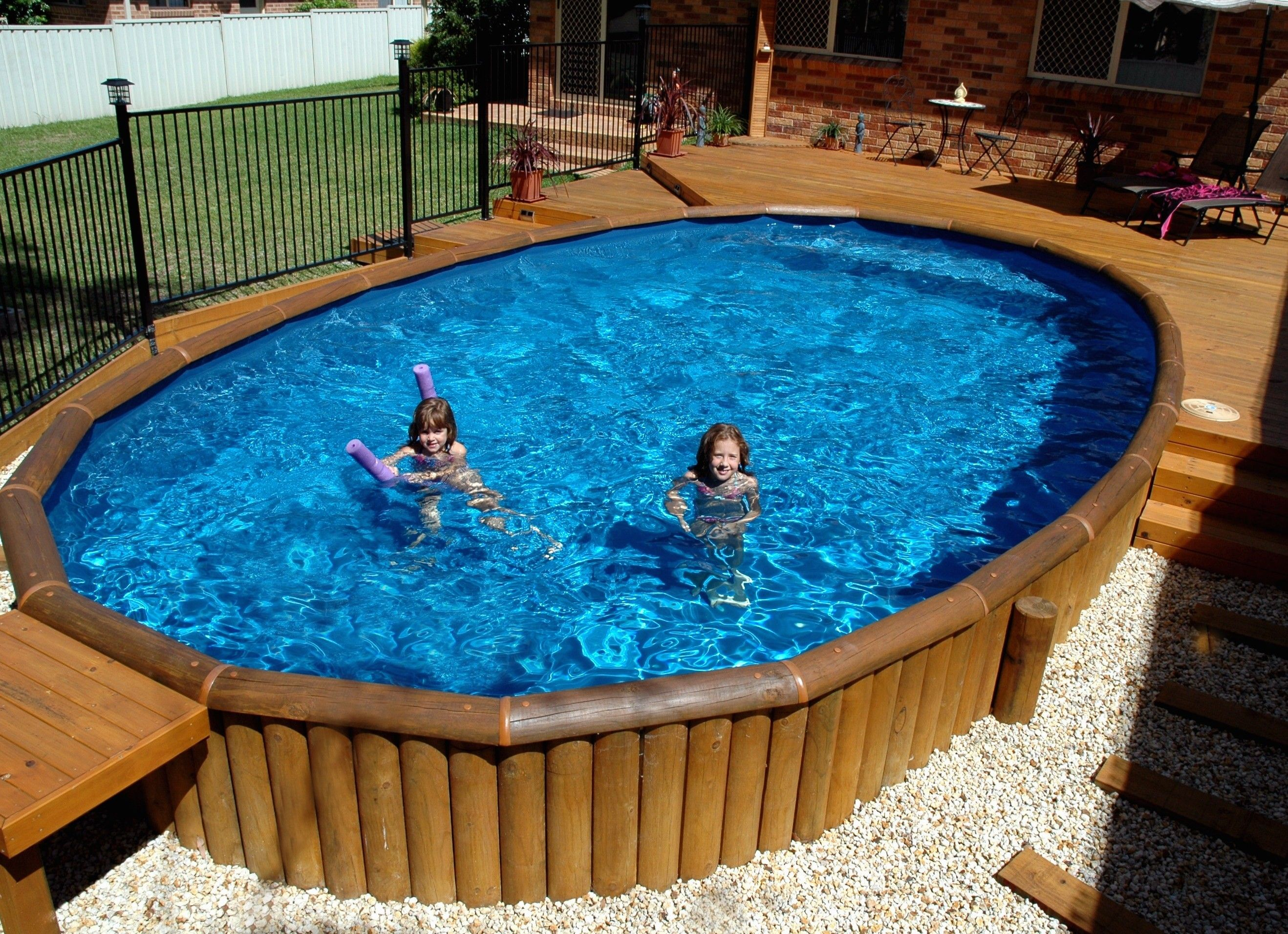 flourishes and additional features for an above ground pool